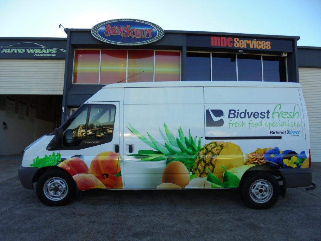 Vehicle Delivery Van Wrap . With Logo from Auto Wraps Australia in Brisbane