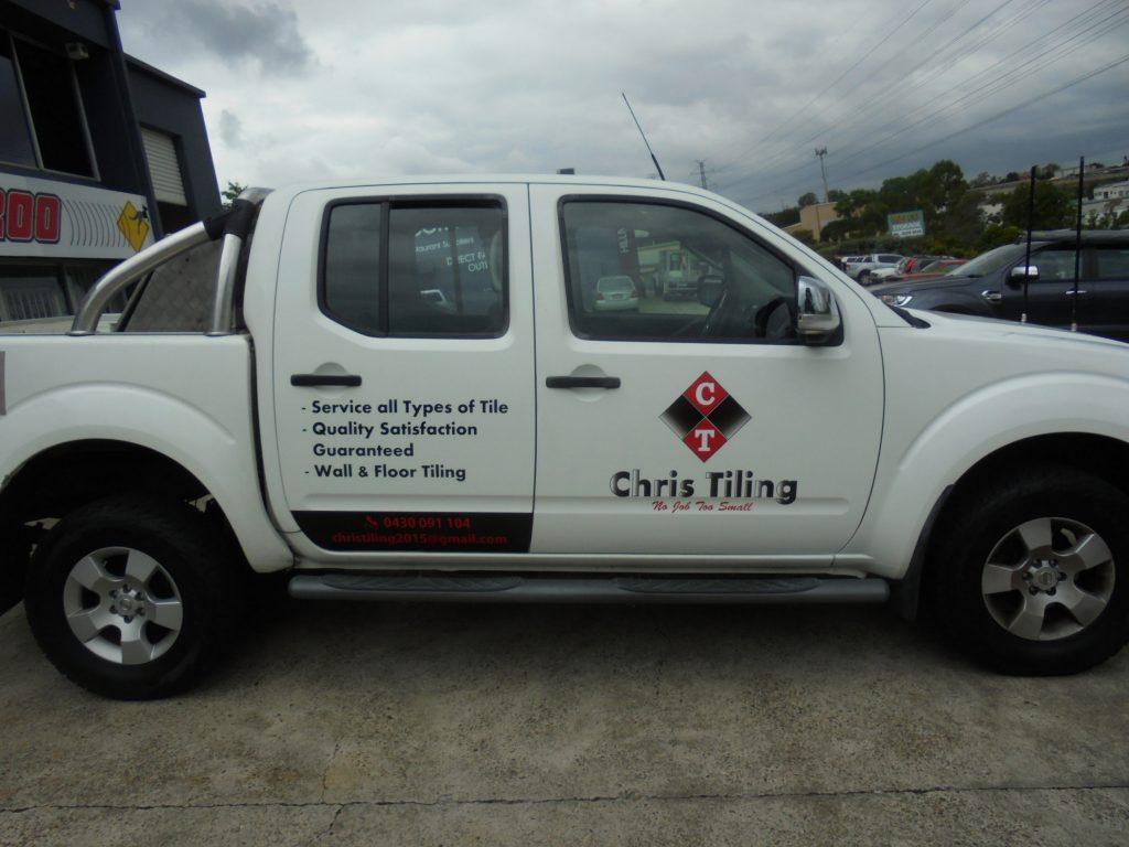 Car Door Text and Graphics Nissan Navara
