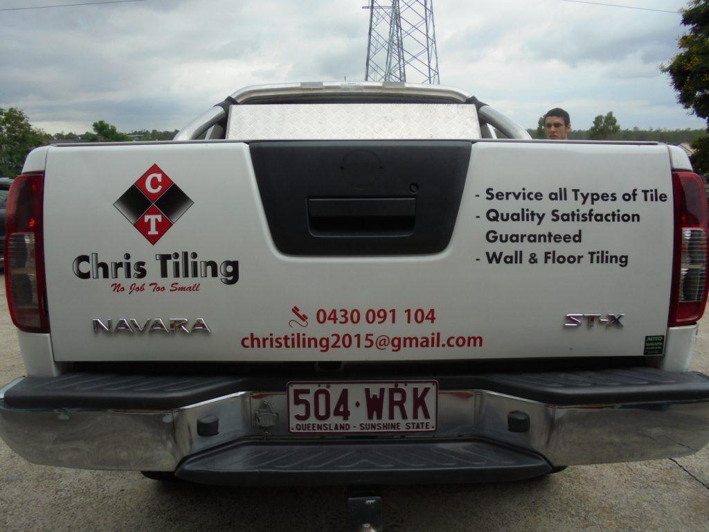 Ute Boot Text and Graphics Nissan Navara