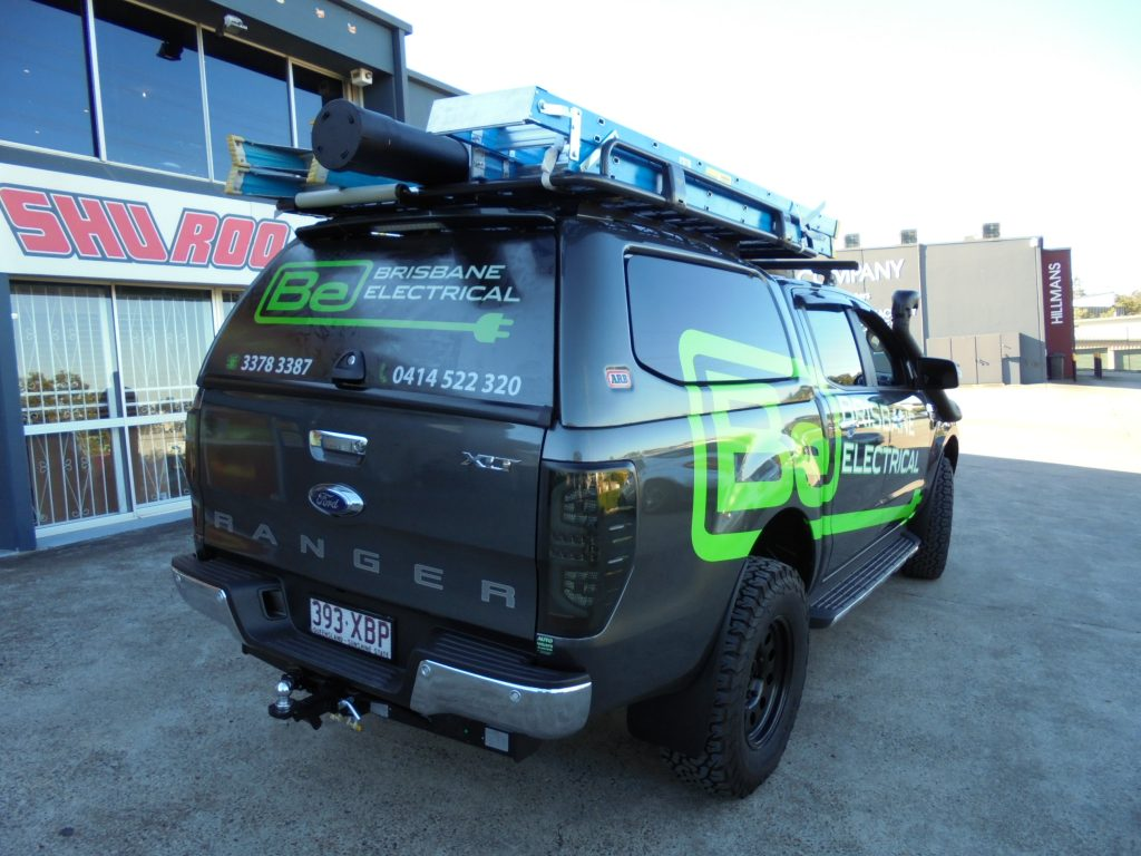 Vehicle : Ute Body and canopy Vinyl Wrap Brisbane