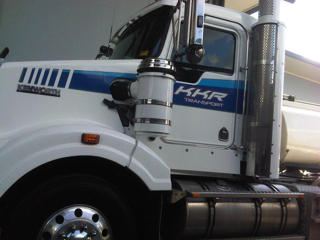 Long Truck Vinyl Wrap Freight Transport Queensland Australia Brisbane