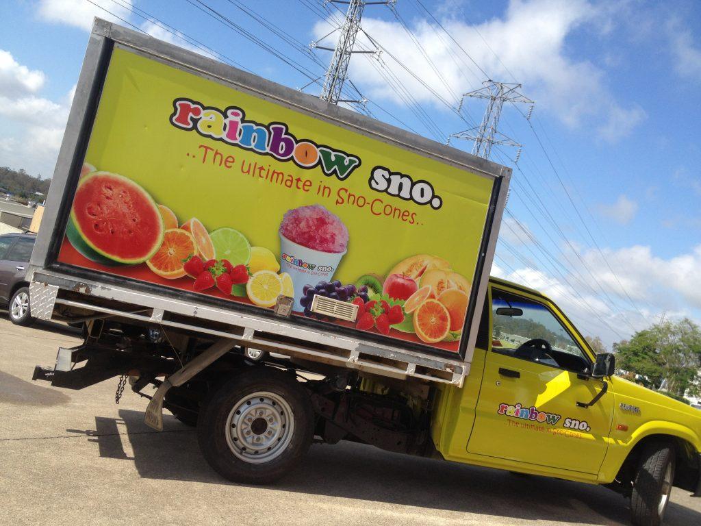 Delivery Truck Logo Vinyl Wrap Advertisement Brisbane