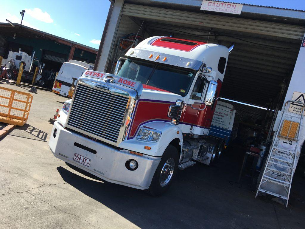 Truck Red Vinyl Wrapping Brisbane Ipswich