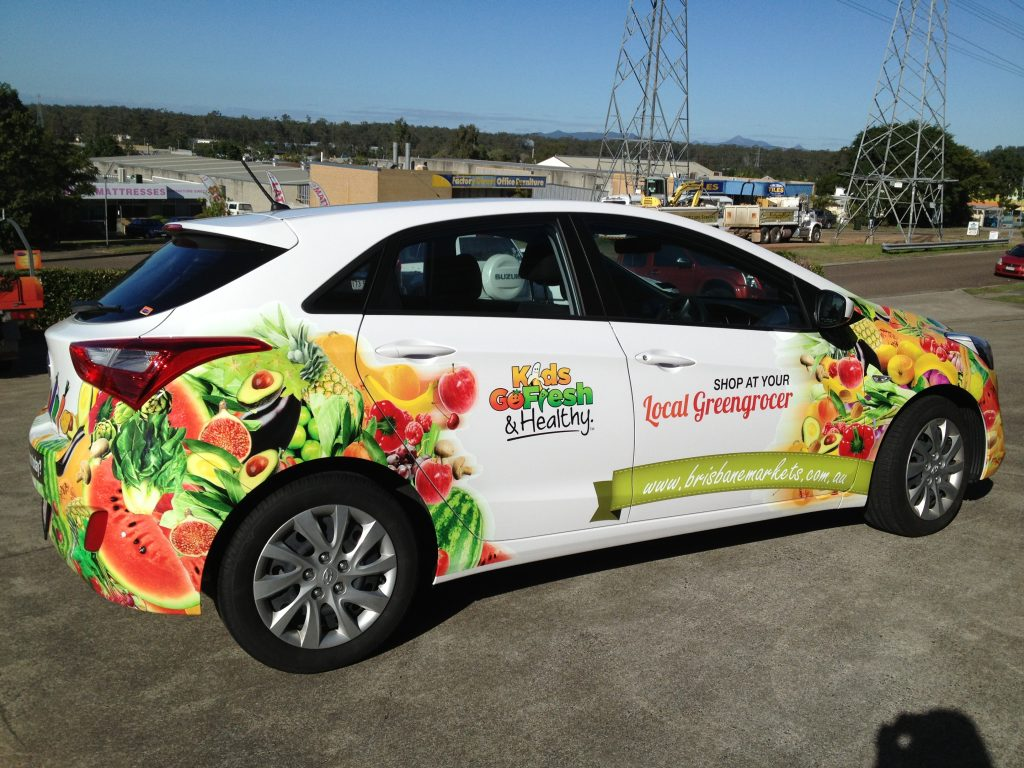 Vehicle : Advertising Commercial Car Vinyl Wrap