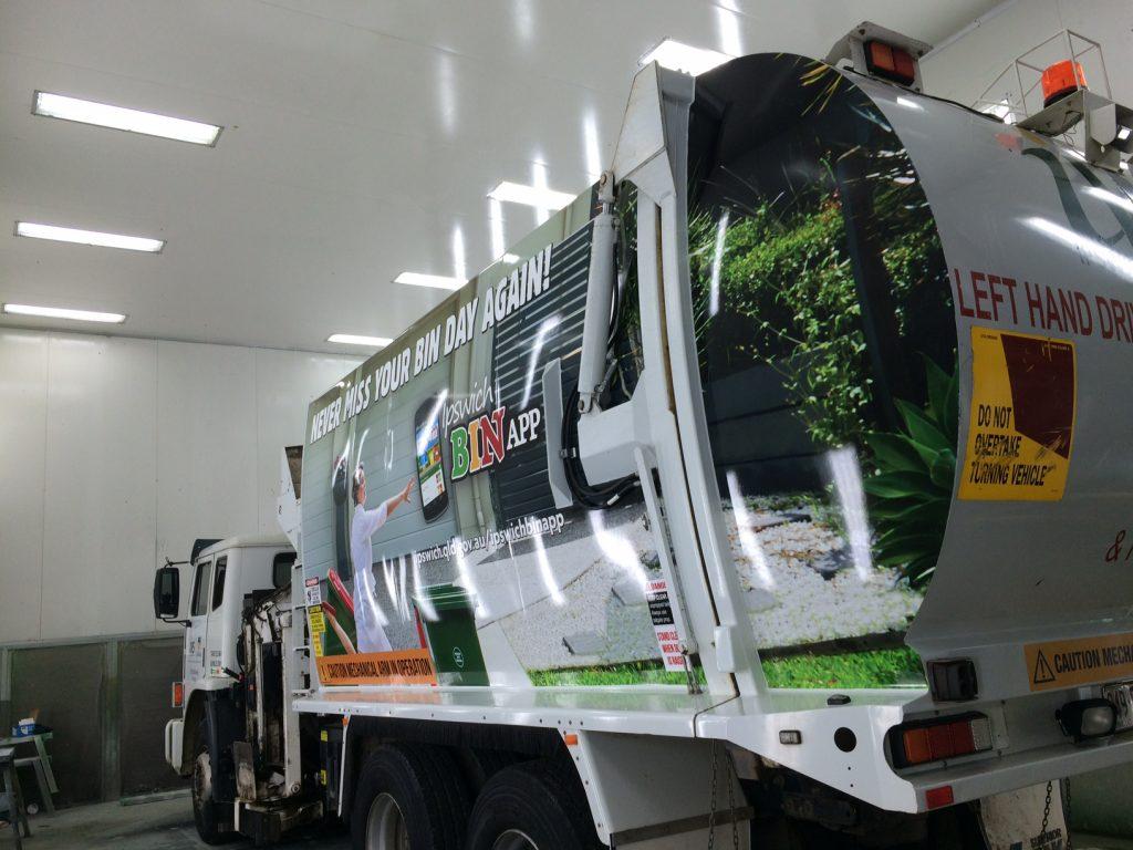 Garbage Truck Vinyl Wrap Design