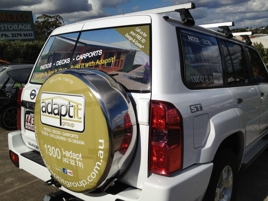 Spare Tyre Graphic Vinyl Wrap Design Decal Advertising Brisbane
