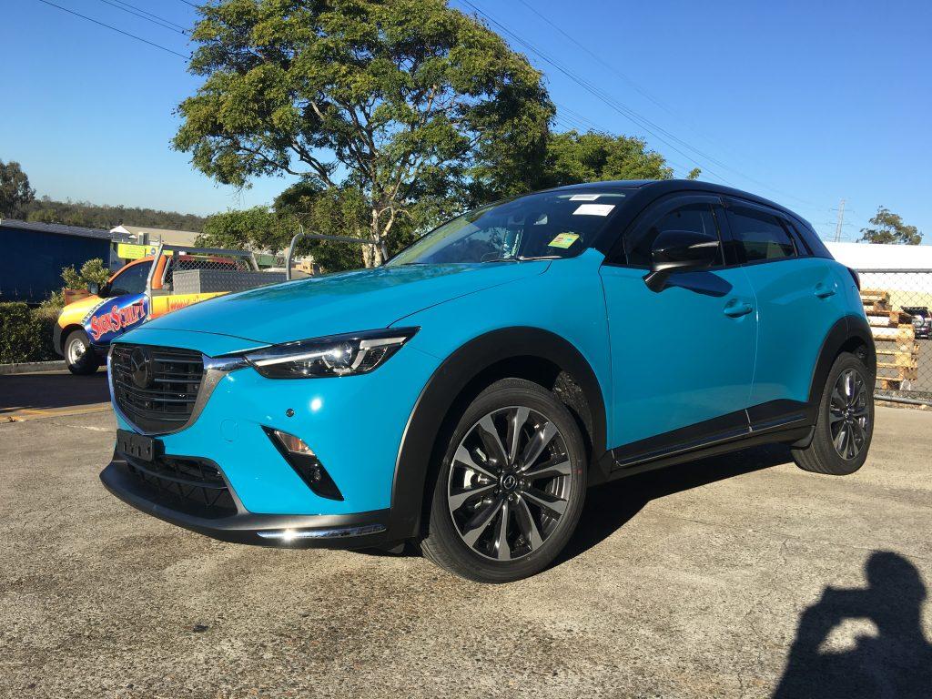 Mazda Colour Change Full Wrap Blue Mazda Glossy