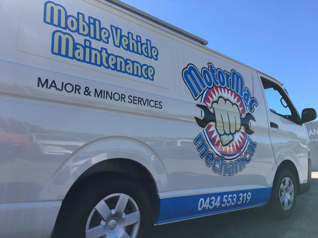 Work Van Spot Graphics Logo Decals