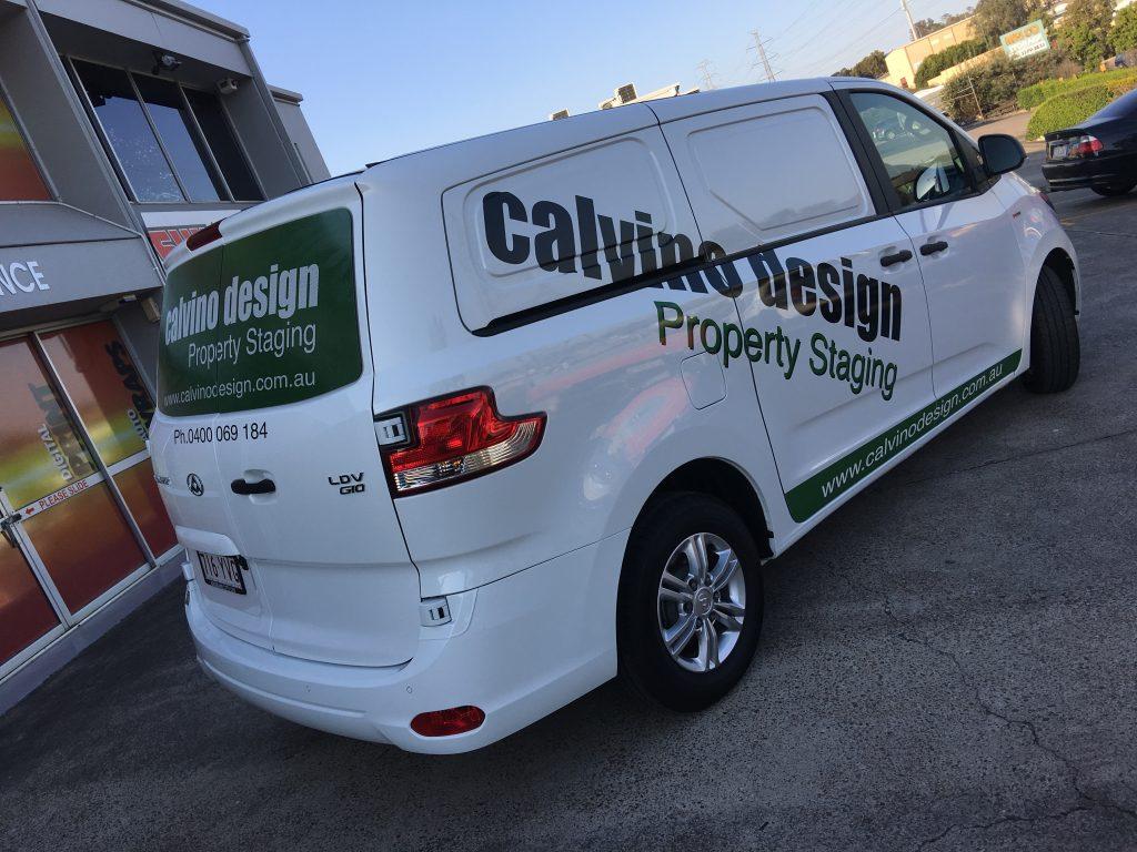 Van Wrap Logo Design Window And Side Wrap