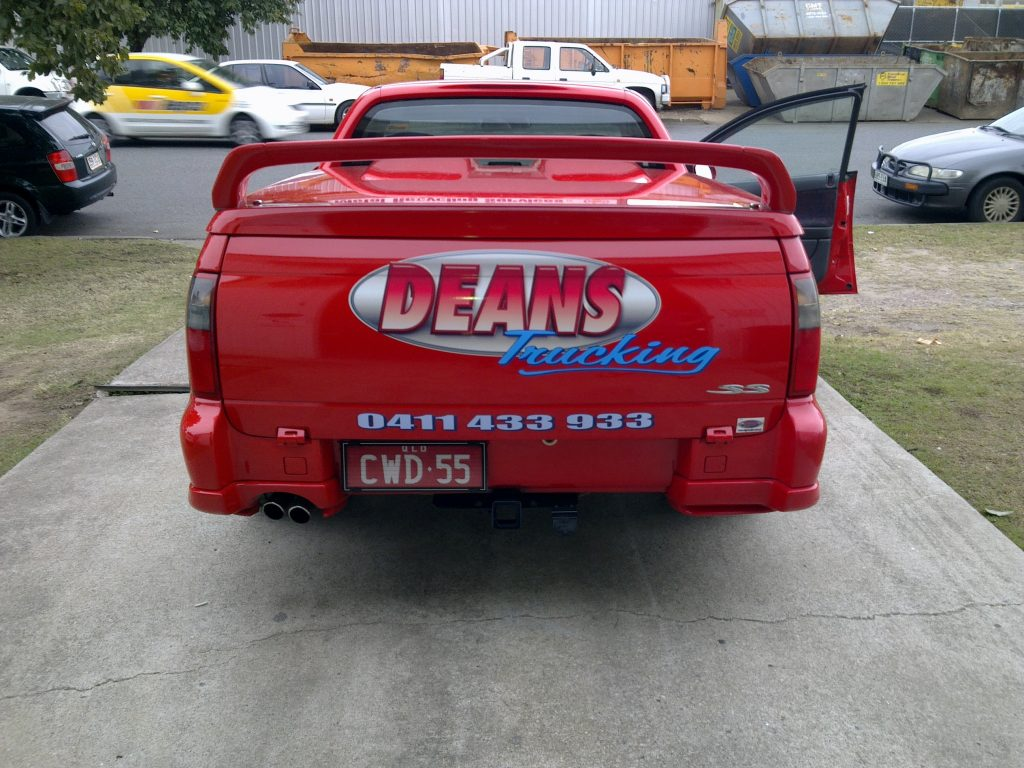 UTE Back logo print car graphics advert phone number