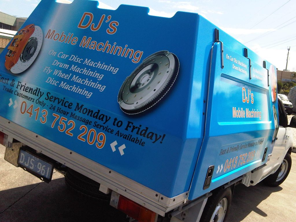Ute Toolbox Graphics Wrap Advert Sign
