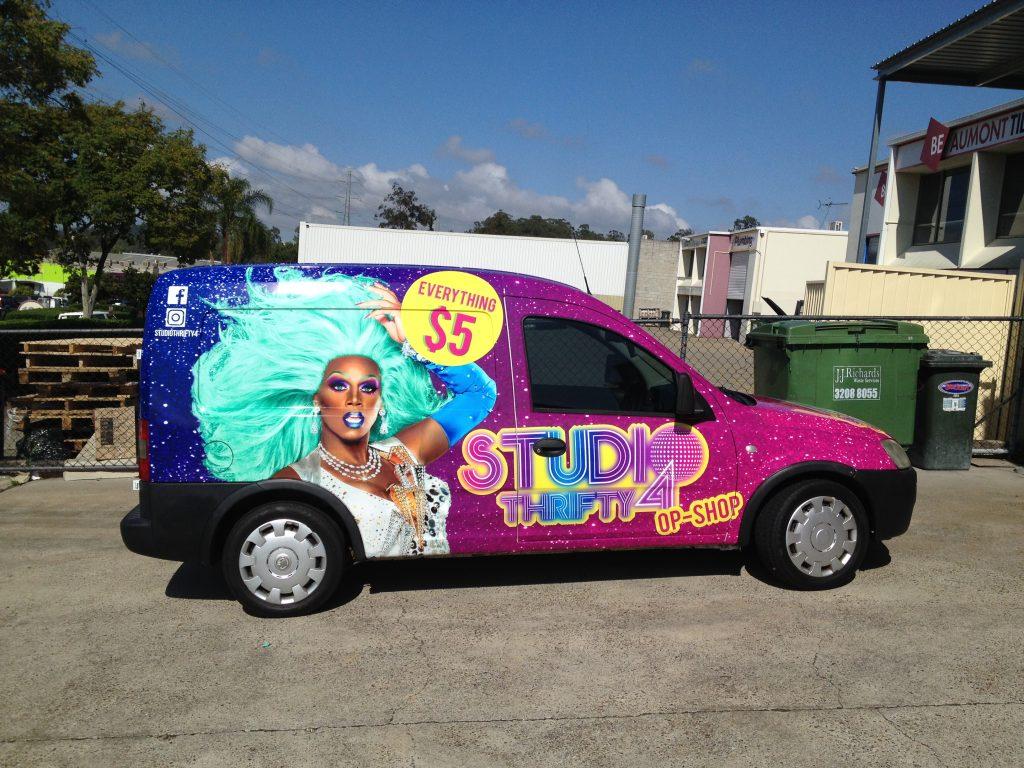 Van Full Wrap Advertising Design