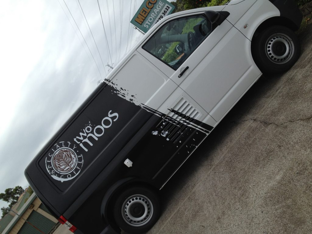 Van Half Wrap for Cafe and Restaurant , with Logo