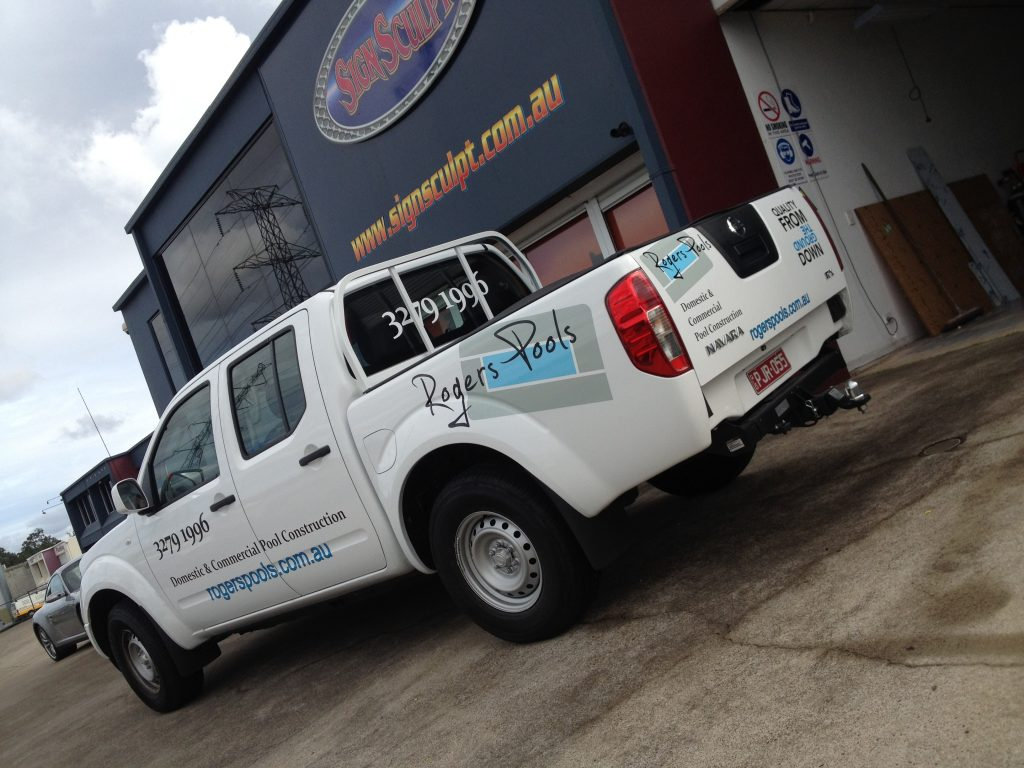 Ute Spot Decals and graphics Business advertisements