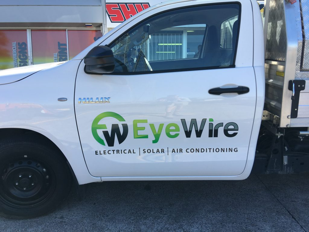 Ute Door Spot Graphics Brisbane. For logo and Advertising