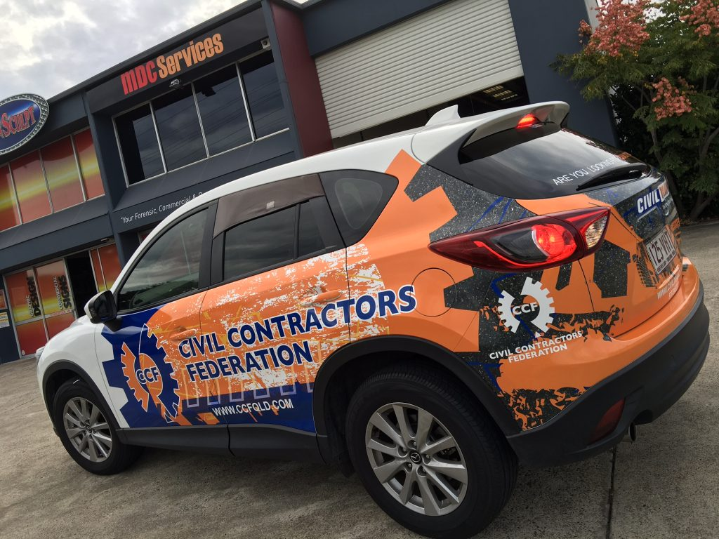 Vinyl Wrap Fleet graphics on Cars, Designed and Wrapped by Auto Wraps Australia