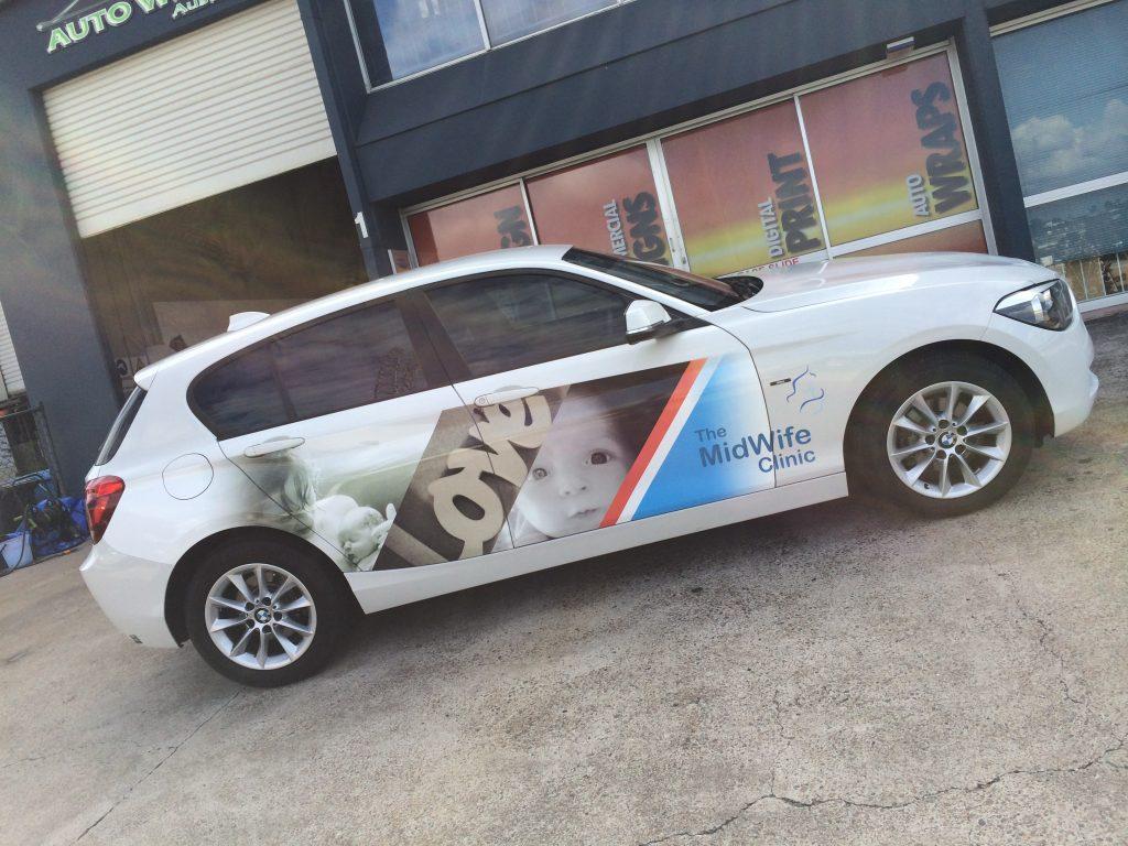 BMW Car Advertising Vinyl Wrap Brisbane