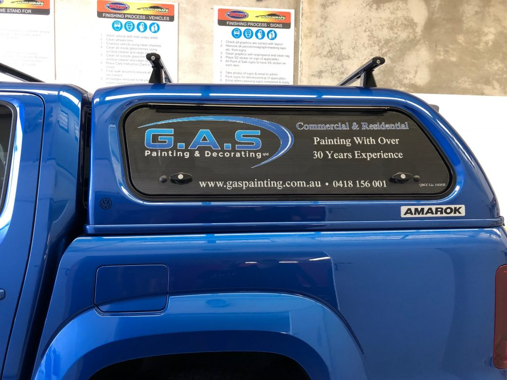 Car Ute Window Signs Advertising