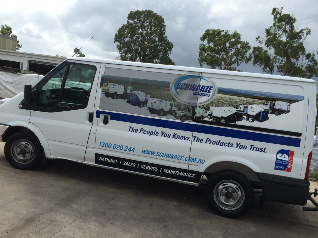 Van Wrap and Advertisement Ford Transit