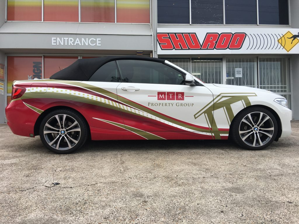 Car Graphics Vinyl Wrap Advert Business BMW