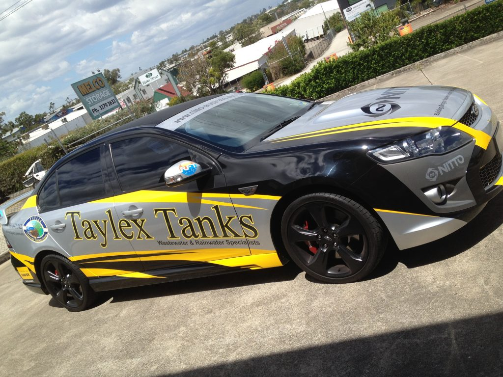 Vinyl-Wrapped Company Car in Brisbane