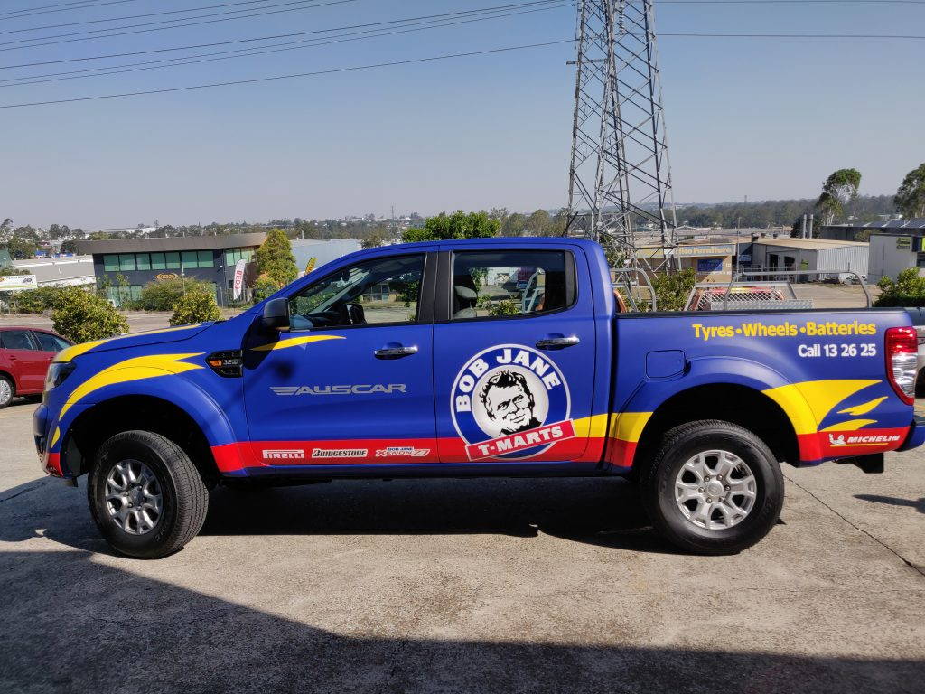 UTE Ford Ranger Satin Wrap with spot graphics Brisbane Ipswich Gold Coast