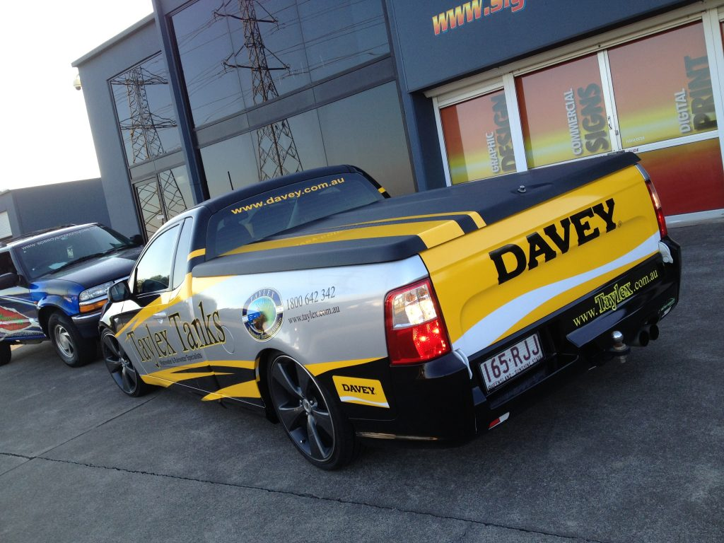 Ute Company Car Vinyl Wrapped in Brisbane